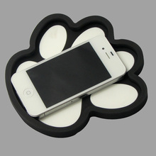 The bear's paw shaped anti-skid pad 3D non-slip mat Anti Non Slip Gadget Mobile Phone GPS Holder Interior Items Accessories