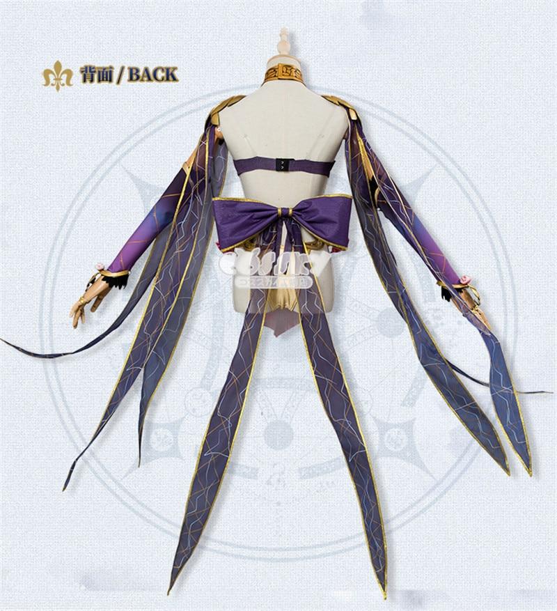 2019 Nuovo Fate/Grand Ordine Costume di Halloween Cosplay Sexy Vestito Viola Delle Donne del Vestito - 4