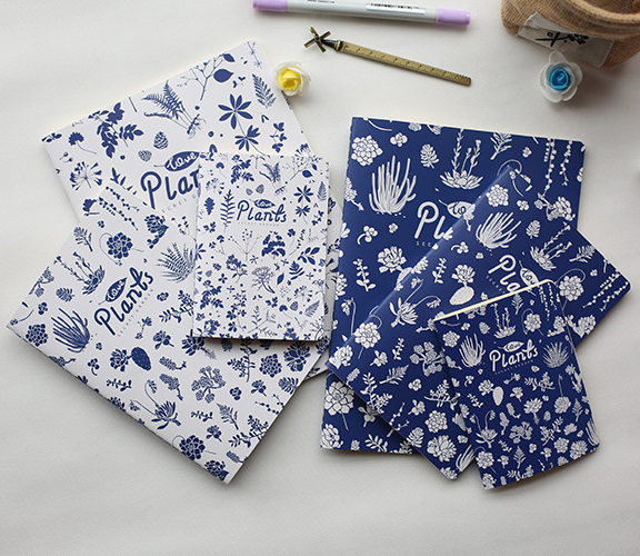 Newest Fashion Design flowers and plants vintage soft copybook daily memos Kraft cover journal notebooks  01652