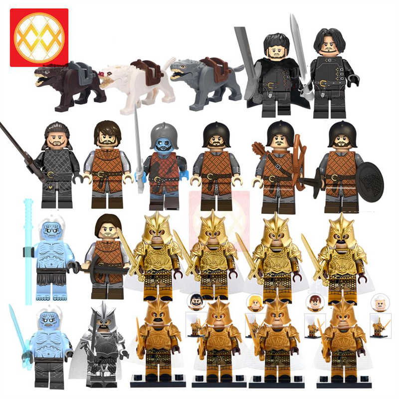 เกมของ Thrones Caitlin Alicia Stark Petyr Baelish Jaime Lannister Army Ice และ Fire building blocks อิฐของเล่นเด็ก