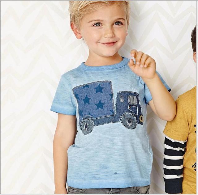 Little maven kids brand clothes 2017 summer baby boys clothes truck print t shirt Cotton brand tee tops 50677