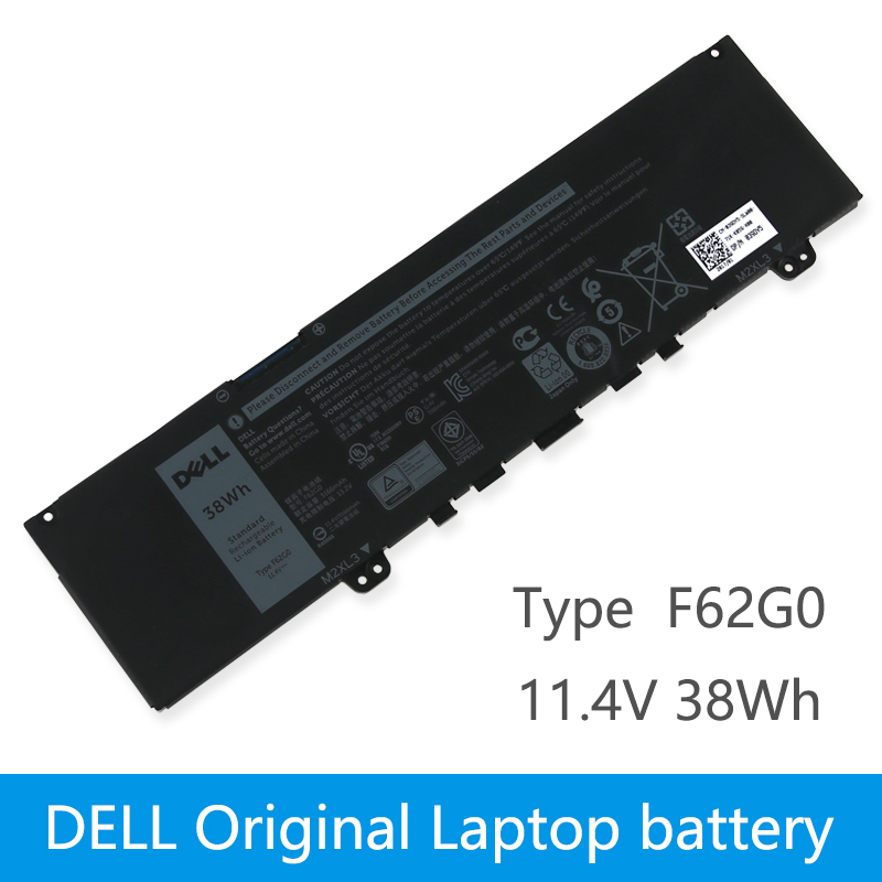 Original Laptop battery For DELL Inspiron 13 5370 7370 7373 Vostro 5370 RPJC3  F62G0 11.4V 38WH