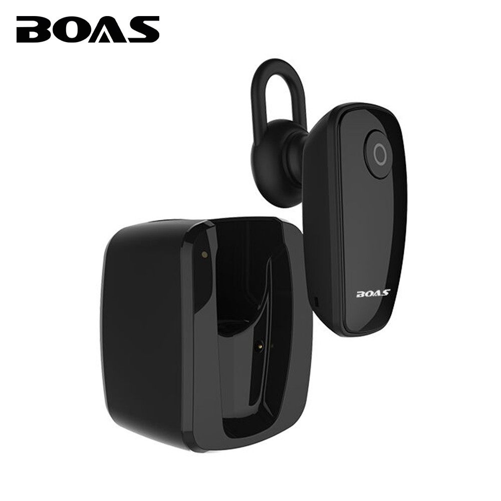 BOAS mini wireless home charger bluetooth 4.1 earphone noise cancelling headset hands-free music sport for iphone huawei samsung boas wireless bluetooth earphone hands free earbud earpiece car charger usb headsets with mic 2 in 1 headset for iphone xiaomi