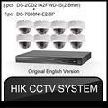 Conjuntos de HIKVISION 1080 P HD de Segurança Sistema de Câmera 4MP 48 V 8 POE NVR com 8 pcs ONVIF 2 Câmera IP 8CH HDD CCTV de Vigilância de Vídeo 4 K