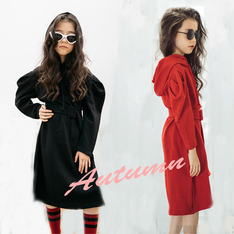 Mother Daughter Dress Family Matching Clothes Girls Autumn Cotton Hooded Long Kids Dresses Family Look Outfits Children Clothing mother and daughter clothes short sleeved t shirt dresses family matching outfits baby girl clothes girls clothing long dress