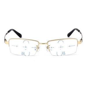 Image 2 - Lunettes de lecture multifocales Anti rayons bleus, lunettes progressives, pour lecteurs à rayons GAMMA, presbytie à mise au point Multiple, lunettes légères de marque
