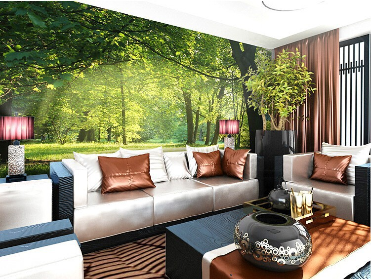 beibehang wallpaper Idyllic natural scenery and flowers living - 3d wallpaper for living room