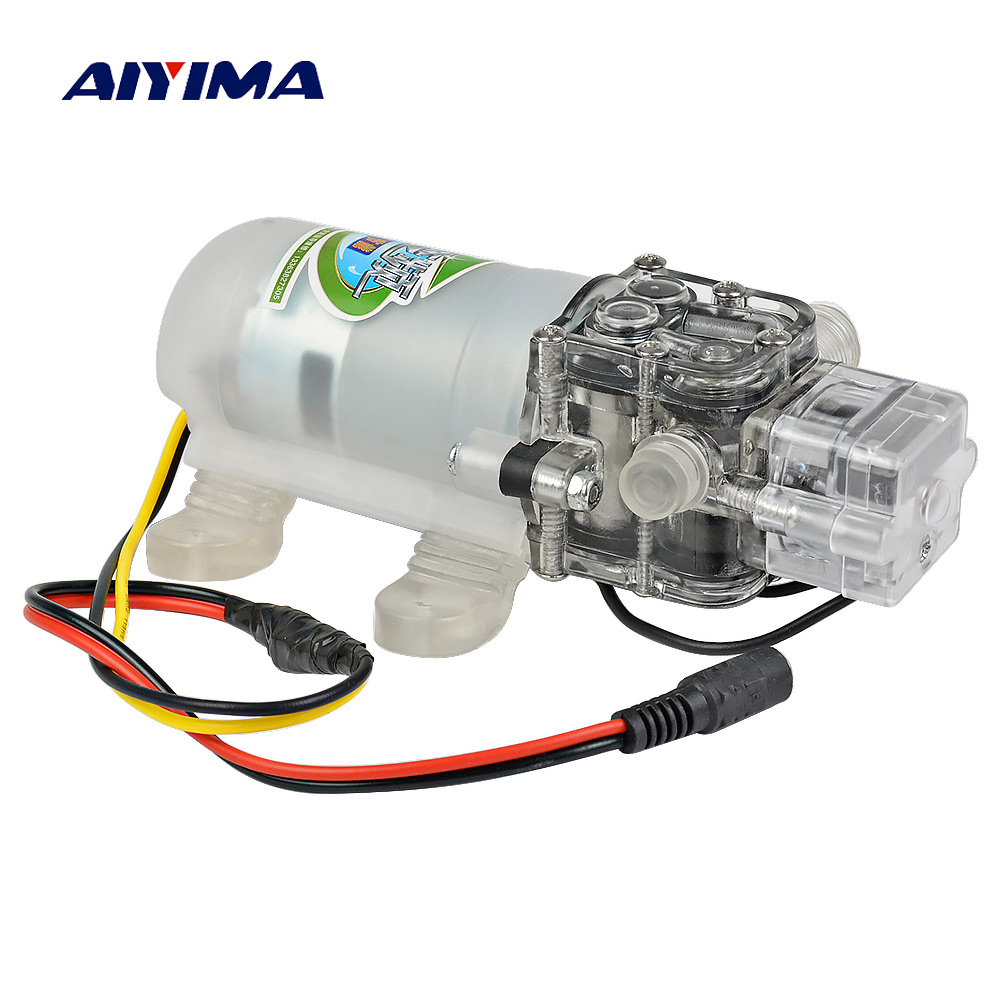 Aiyima Micro DC12V Diaphragm Pump Self-priming Booster Water Purifier Circulation Pumps Agricultural Car Wash Sprayer цены