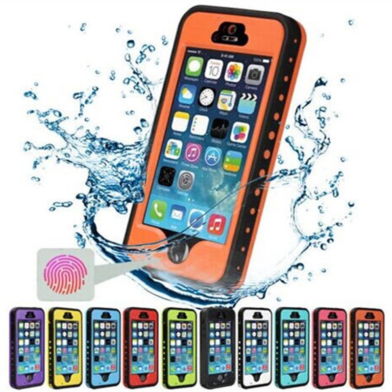 Snowproof Case for iphone5 5s Waterproof Shockproof Phone Case with Touch ID Fingerprint Function Protective Cover For iPhone SE