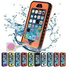 Case для iphone5 5S Водонепроницаемый Противоударный Snowproof Телефон Case with Touch ID Отпечатков Пальцев Функция Защитная Крышка Для iPhone SE