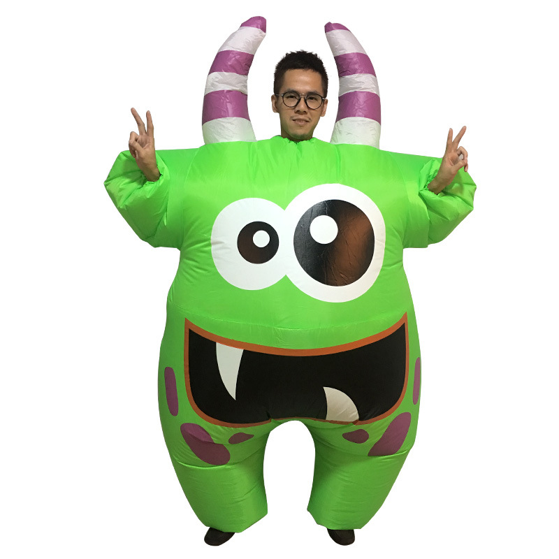 YHSBUY 2018 Adult Green Monster Inflatable Toys Children Funny Gian Cosplay Suits Brand Party Props for Teens,HZ007