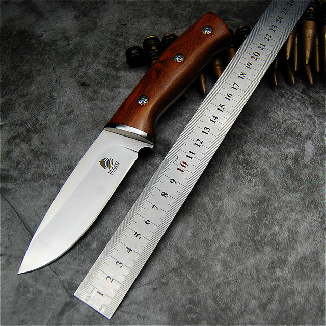 PEGASI Japanese mirror light high quality 9CR18Mov  tactical knife outdoor hunting knife outdoor defensive sharp camping knife 5