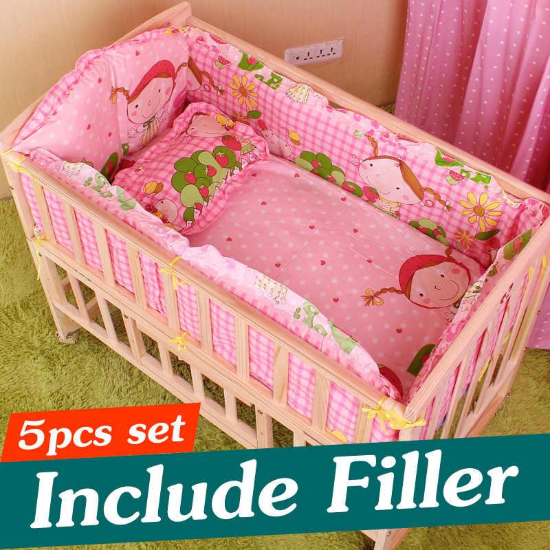 6056b59b9756 Detail Feedback Questions about 5PCS Newborn Baby Bedding Set Baby ...