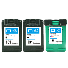 3 unids para hp 131 135 cartuchos de tinta para hp deskjet 6540 d 6540DT 6543 6543 PSC 1500 1510 1513 1600 1610 2300 2600 2610 C3183