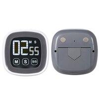 Ücretsiz nakliye, dijital dokunmatik ekran mutfak sayacı, büyük LCD ekran elektronik zamanlayıcı alarmı