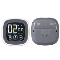 Free Shipping Digital Touch Screen Kitchen Timer Large LCD Screen Electronic Timer Alarm