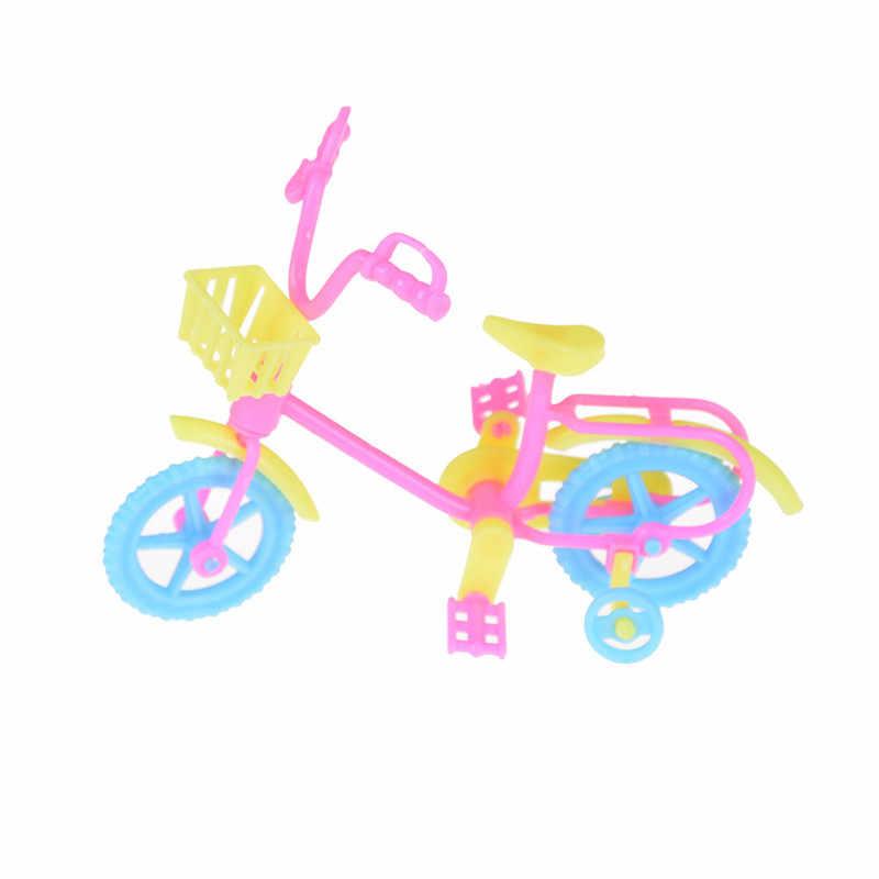 מיני אופני עבור בובת אביזרי ילדים בית לשחק צעצוע ילד בובות Preted לשחק אופניים בעבודת יד צעצוע ילדי פלסטיק