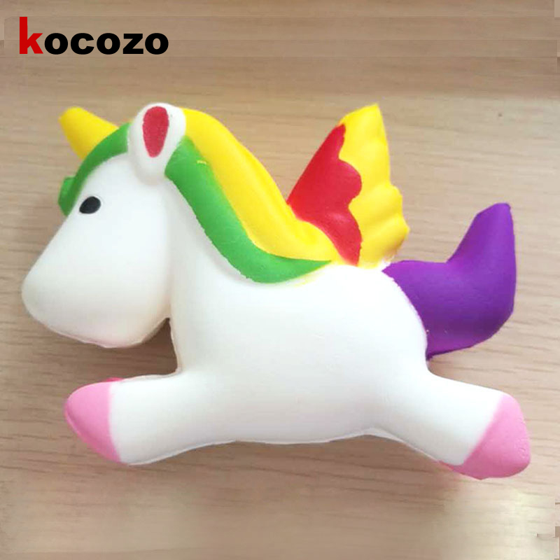 13CM Simulation Flying Unicorn Pony Horse Squishy Toys Slow Rising Squeeze Doll Fun Jokes Gadget Anti Stress Relief Toy