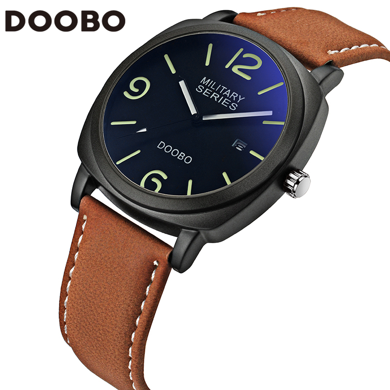 2017 Top Brand Luxury Leather Strap Men's Quartz Fashion Casual Sports Watches Men Military Wrist Watch Relogio Masculino DOOBO loreo casual mens watches brand luxury leather men military wrist watch fashion men sports quartz watch relogio masculino m32