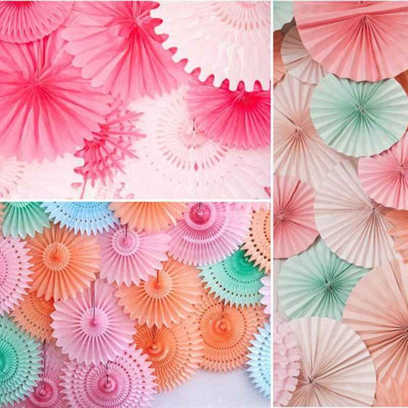 Новинка (6 размер) тканевые бумажные вееры цветы помпоны Рождественский свадебный Декор поставки детский Декор для вечеринки в честь Дня Рождения детское шоу ремесла