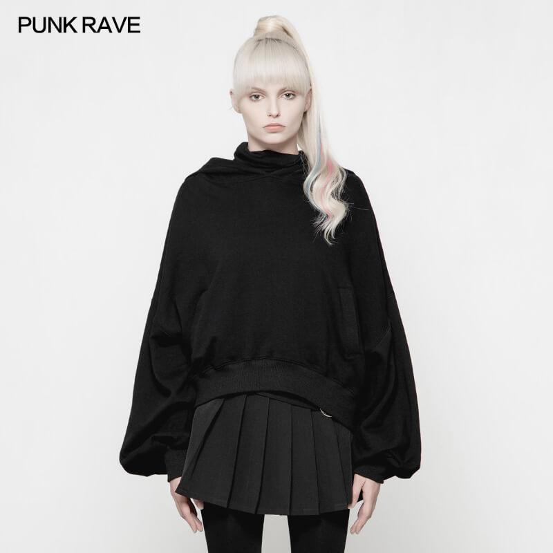 Женские толстовки с длинным рукавом, толстовка в стиле панк, свободная толстовка с принтом черепа, Повседневный пуловер, трикотажная куртка