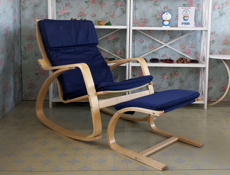 Comfortable Relax Chair Rocking Chair And Stool Ottoman