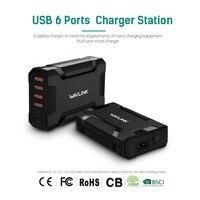 Wavlink 60 W/12A 6 היציאה USB 3.0 קיר תחנת מטען מהיר רכזת/שולחן עבודה/כוח נסיעות מתאם עבור טלפון חכם סמסונג גלקסי iPhone
