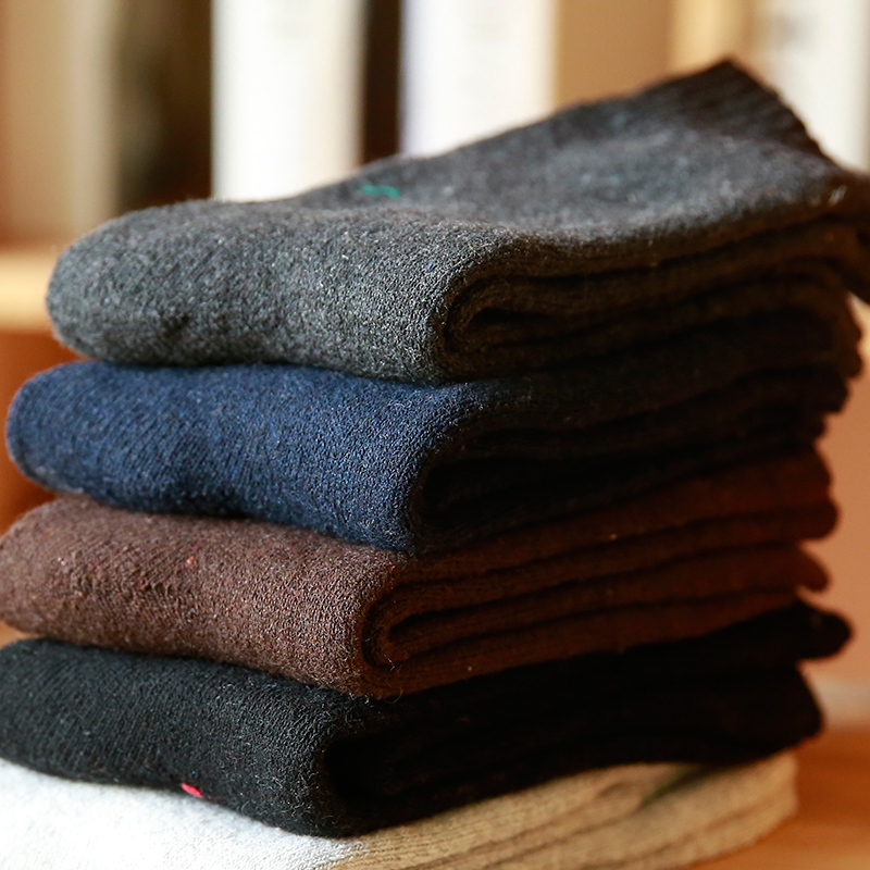 Special Winter New Men's Thick Wool Socks Thick Terry Socks Warm Thick Cotton Socks.5 Pairs