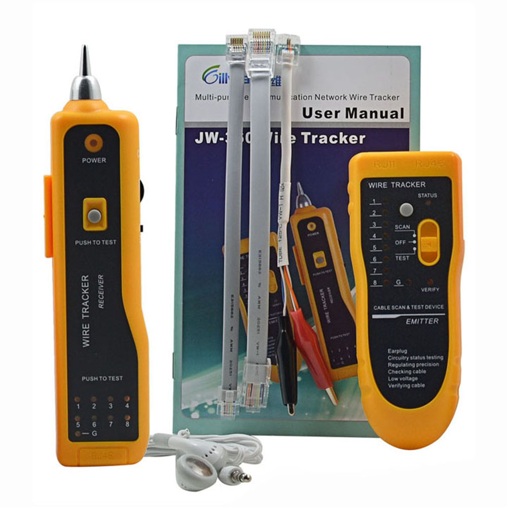 JW-360 NETWORK WIRE CABLE TRACKER LINE TESTER w/ TONE GENERATOR AMPLIFIER PROBE Ethernet Scanning Detector Phone Generator Tool