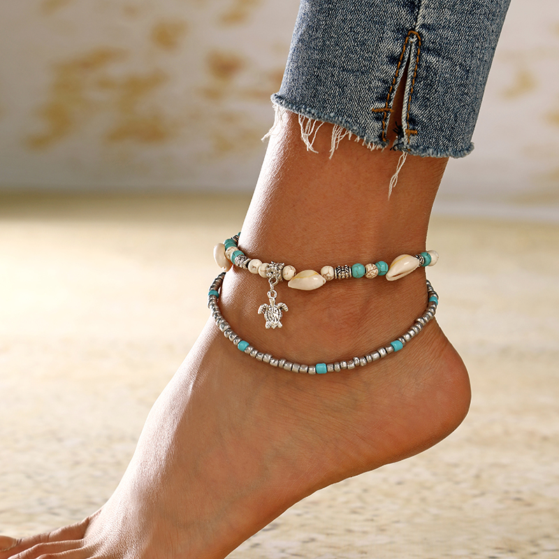 YAOLOGE Bohemian Natural Sea Shell Conch Anklets For Women Ankle Bracelet on Leg Chain Shell Gold Boho Anklet Beach Foot Jewelry
