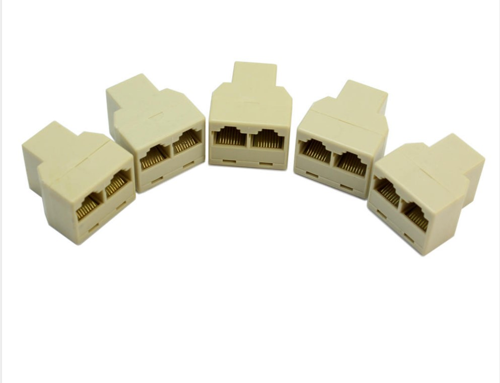 5 X 3 Sockets RJ45 6 LAN Ethernet Splitter Adapter Internet Connector Cable New Contator Network Socket Splitter Adapter PC lan ethernet network rj45 1 male to 3 female connector splitter adapter cable h029