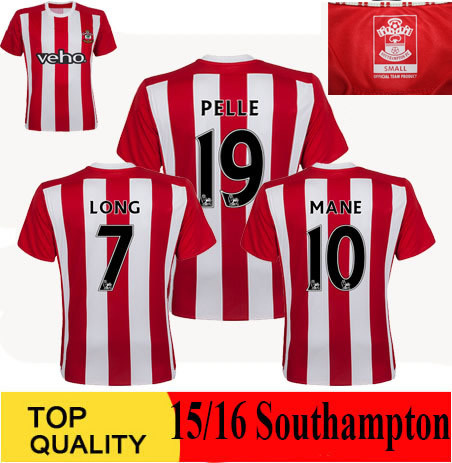 sale retailer 6d6b3 cbfc4 US $10.49 |2016 Southampton Jersey 15 16 football shirt Home Red White  Pelle Jersey TADIC Shirt LONG Southampton Jersey-in Soccer Jerseys from  Sports ...