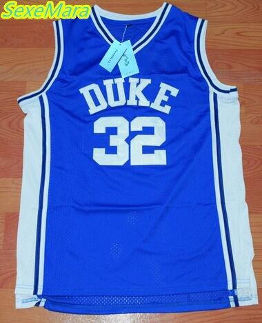 SexeMara Christian Laettner 32 DUKE Basketball Jersey Blue Cheap Throwback Basketball Stitched Jerseys Free Shipping