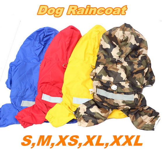 Spring And Summer Coat Jacket Clothes Casual Fashion Acrylic Pet Raincoat 4 Color Double Waterproof Dog Raincoat Cwyp-21