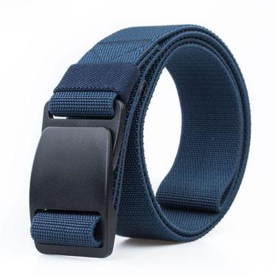 NEW Nylon   belt   Plastic buckle Stretch elastic   belt   men Weaving casual Nylon fashion cowboy men   belt