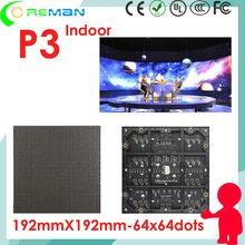 Módulo led p3 ali frete grátis, módulo matrix de ponto led rgb p3 64x64 pixel bom preço