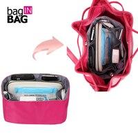 BagINBAG High Quality Nylon Women Makeup Cosmetic Bag Travel Organizer Insert Bag In Bag For Brand