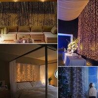 3m X 3m LED Curtain String Lights 6m X 3m Christmas Fairy Light New Year Wedding