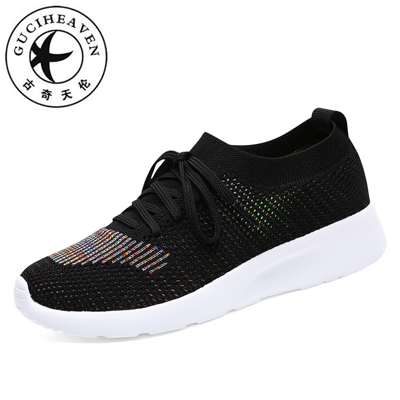 Guciheaven Summer Walking Leisure Shoes Women Air Mesh knitting Stretch Fabric Thickly Sole Casual Flat Platform Student SneakerGuciheaven Summer Walking Leisure Shoes Women Air Mesh knitting Stretch Fabric Thickly Sole Casual Flat Platform Student Sneaker