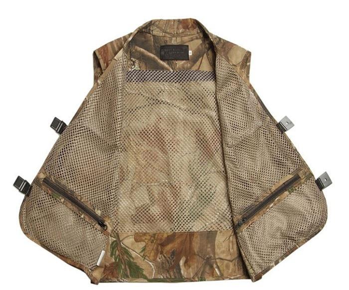 Men Camping Hunting Fishing Camouflage Jungle Denim Vest Outdoor 2016 new Military Veste Homme Waistcoat Men Colete S528TT