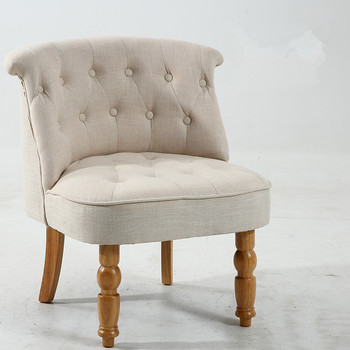 Casual Accent Chair with Button Tufts 1