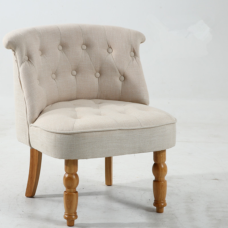 Casual Accent Chair With Button Tufts-Upholstered Living Room Bedroom Side Chair Furniture Modern Mid Century Chair Without Arms