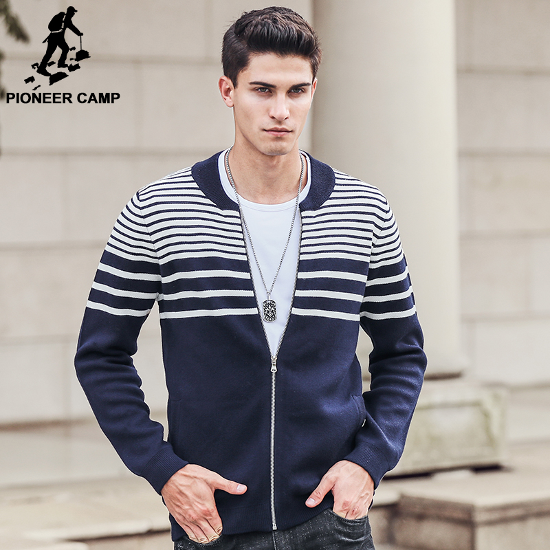 Pioneer Camp Autumn Winter Cardigan font b Sweater b font font b Men b font 2017