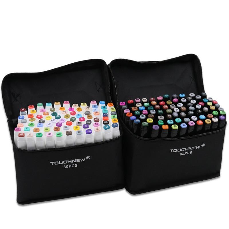TouchFive Marker 30 40 60 80 Color Alcoholic oily based ink Marker Set Best For Manga
