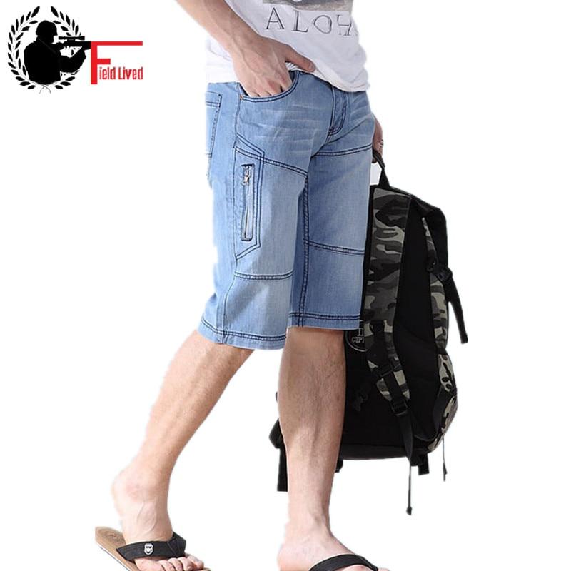 JEANS MEN SHORT Bermuda European-Style Ripped Male Denim 44 Size-38 40-42 New-Arrival
