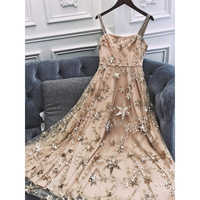 New level  Super heavy hammer bead embroidery stars Annual birthday party dress dress is female