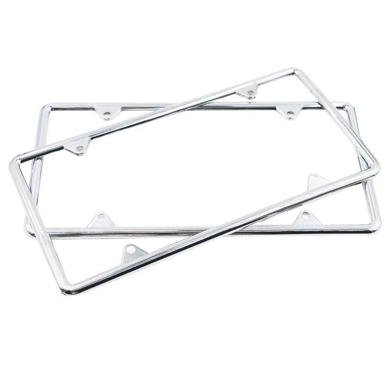 Hohe Qualität 2x Kennzeichen Rahmen Premium Silber Edelstahl Metall ...