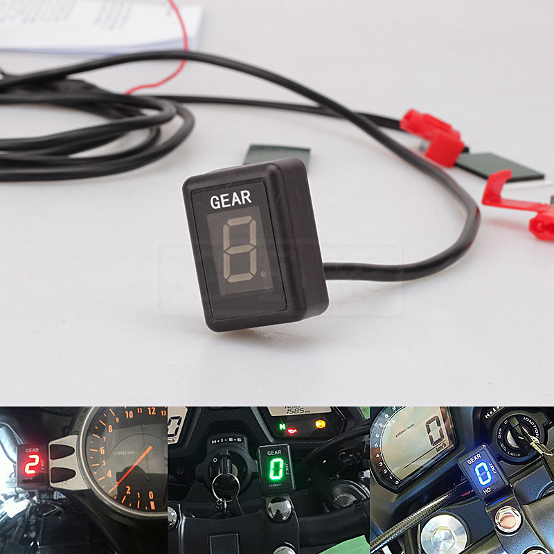 Motorcycle LCD Electronics 1-6 Level Gear Indicator Digital Gear Meter For Aprilia RSV Mille 1998 - 2010 SL1000 Falco 1999- 2005 7 colors motorcycle cnc brake clutch levers and handlebar hand grips for aprilia dorsoduro 750 rsv mille r falco sl1000