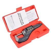 High Precision Electronic LCD Digital Micrometer 0 25mm Range Thickness Gauge Durable Measuring Tool 0.001mm/0.00005 Resolution