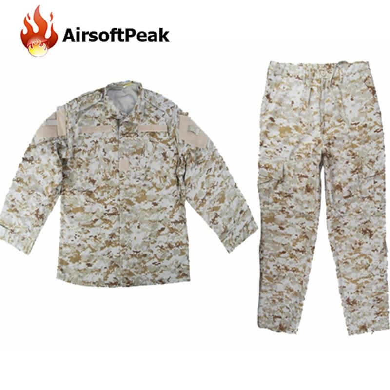 ФОТО Military Special Force Uniform Clothes Set Combat Shirt Pants Digi Desert Men Airsoft Tactical Camouflage Printed Ghillie Suit